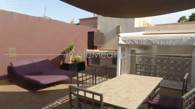 contemporary rebuilt riad for sale. Astoning terrace