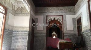 Rare! Riad with ornemented douirya. Beautiful wide and bright terrace!