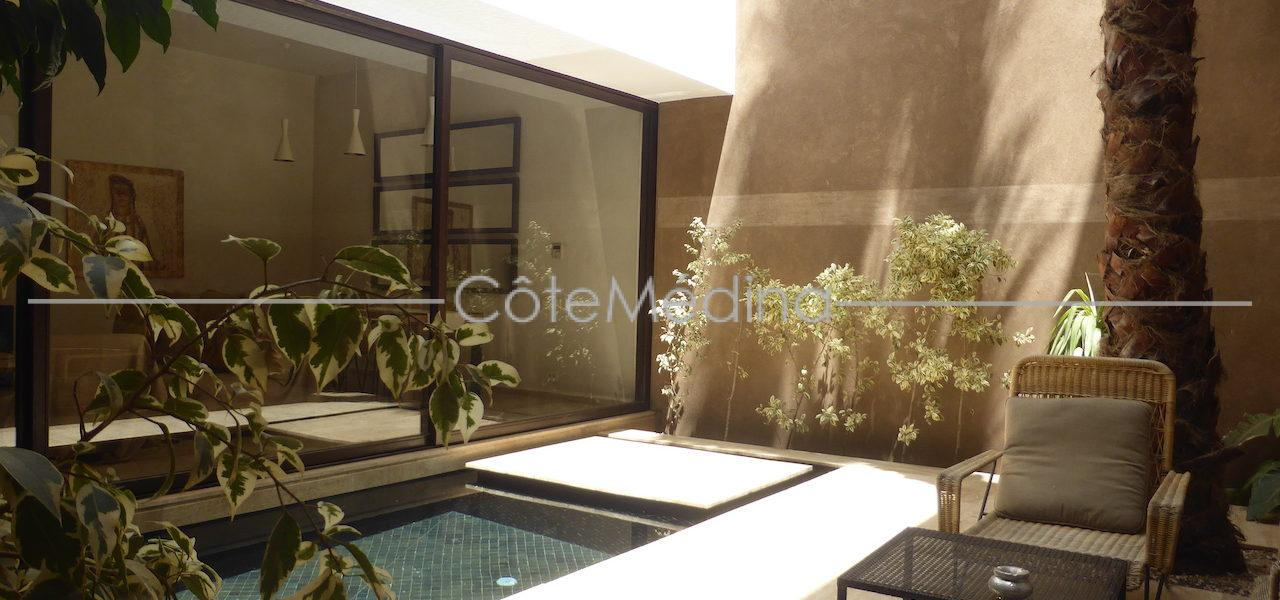 Rare! Contemporary riad. Design invited in the heart of the Old town of Marrakesh