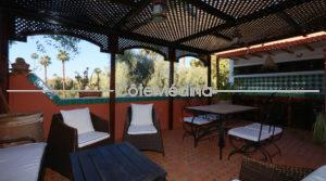 Riad 3 chambres – Terrasse avec vue sur jardins Palace Mamounia