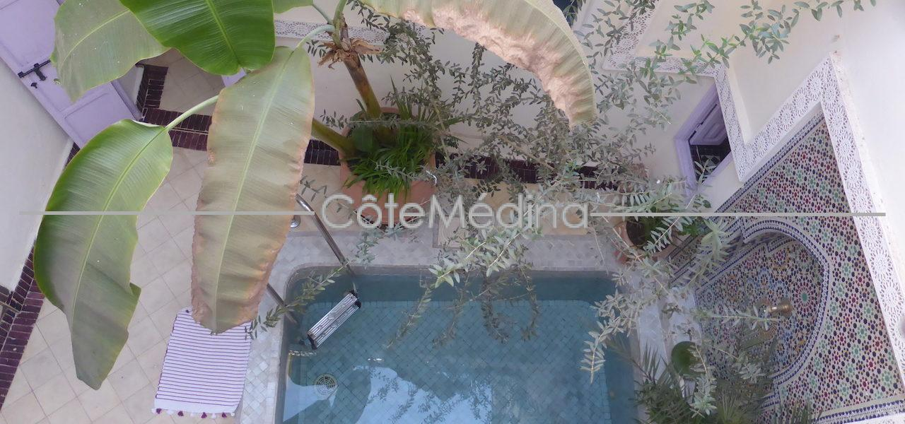 Charming Riad 3 bedrooms with Pool. 10′ walk from Jemaa el Fna square. To seize!