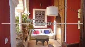 Exceptional riad – 5 bedrooms with bathrooms – Swimming pool in raised patio