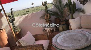 Architect designed house in the medina – view on the Agdal gardens and Atlas mountains